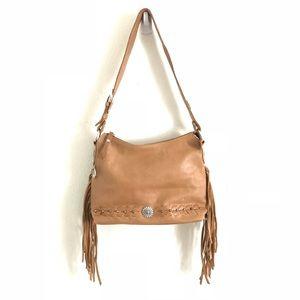 American West Bags - AMERICAN WEST Fringe Tan Boho Western Shoulder Bag